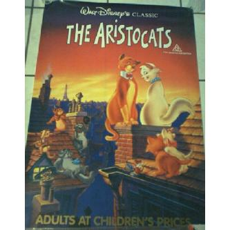The Aristocats Poster - Disney RARE Image